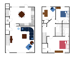 Floor Plan Bed by Floor Plans 2500 Central Park Townhomes Near A U0026m