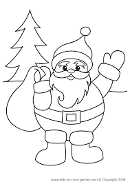 christmas tree santa snowman stockings coloring pages kids