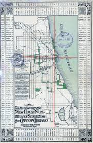 Map River North Chicago by Chicago Street Numbering