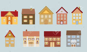 different house designs various houses with different architectural styles royalty free