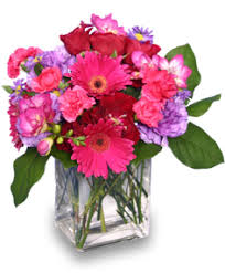 flowers arrangement hot pink pizzazz flower arrangement in tigard or a williams florist