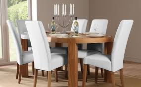 White Leather Dining Room Chairs Lovely Decoration White Leather Dining Room Chairs Pleasurable