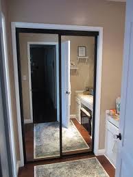 Mirror Bypass Closet Doors 92 Best 2 Panels 2tracks Aluminum Frame Sliding Closet Doors