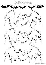 imagenes de halloween tiernas para colorear siluetas de murciélagos para colorear y recortar papelisimo