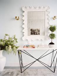 contemporary foyer table with white top different types of foyer