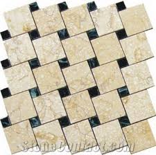 beige limestone mosaic floor tile from china stonecontact com