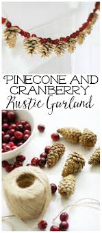 pinecone garland pinecone and cranberry garland clean and scentsible
