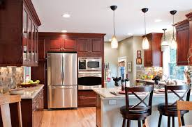 best paint color with cherry cabinets paint color ideas for kitchen with cherry cabinets coryc me
