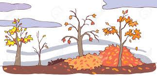 imagenes animadas de otoño fondo de paisaje de otoño de dibujos animados para niños