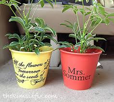 personalized flower pot personalized flower pot or s day gift the