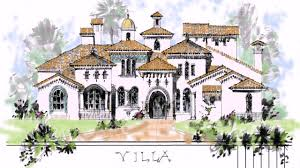 hacienda style house plans youtube