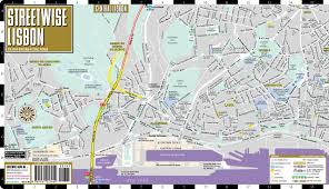 Map Of Amalfi Coast Streetwise Lisbon Map Laminated City Center Street Map Of Lisbon