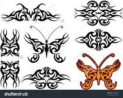 vector tribal armband butterfly stock vector 34063984
