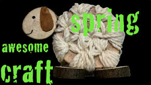 spring natural decoration craft for kids sheep youtube