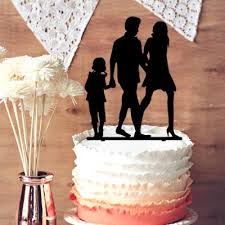 gold wedding cake topper acrylic wedding cake topper modern family member cake topper with