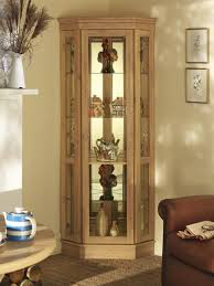 living room design with glass door cupboard