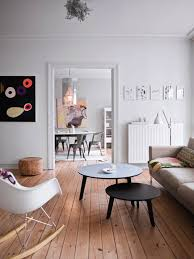 Wood Floor Living Room Ideas A White Interior Design With Wooden Flooring