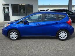 2016 nissan versa blue used 2016 nissan versa note sv 4 door car in kelowna prj4612