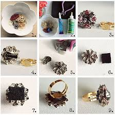 how to make your own clip on earrings easy diy make your own cocktail rings cocktail rings vintage