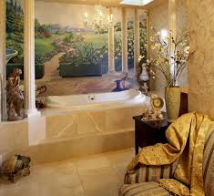 luxury bathroom with tuscan design bring old italian style into