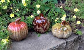 ceramic pumpkins 3pc assorted ceramic pumpkins flora decor