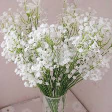 Baby Breath Aliexpress Com Buy 6pcs White Baby Breath Artificial Flowers For