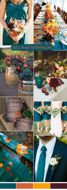 fall colors for weddings ten prettiest shades of blue for 2017 wedding color ideas teal