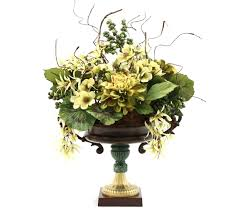 hand made dining table centerpiece silk flower arrangement home