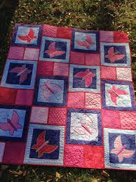 the free motion quilting project picking colors for dancing butterfly