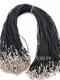 charm leather necklace images Wholesale 100pcs lot rubber necklace cords free shipping fashion jpg