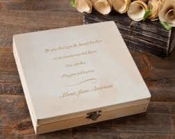 engraved memory box memorial keepsake etsy