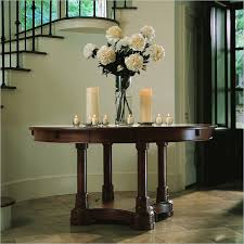 Hall Table Decor Wonderful Round Foyer Table Wigandia Bedroom Collection