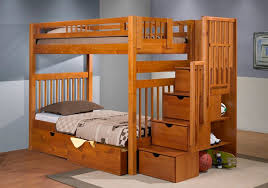 twin over full bunk beds stairs twin over twin white hardwood bunk