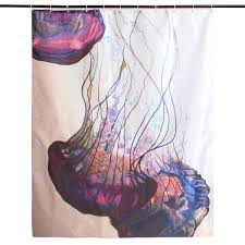 Jellyfish Home Decor by 150x180cm Waterproof Jellyfish Pattern Polyester Shower Curtain