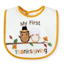 my 1st thanksgiving koala baby white yellow my thanksgiving keep clean bib