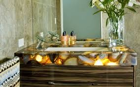 semi precious bathroom vanity set amethyst black agate black mop