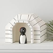 christmas decorations for kids the land of nod penguin igloo village decor