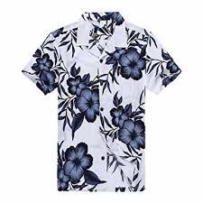 s hawaiian shirt aloha shirt in white navy at s