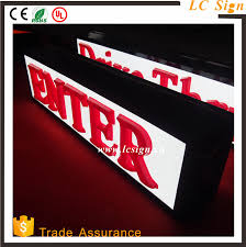 Outdoor Light Box Signs Light Box Sign Letters Light Box Sign Letters Suppliers And