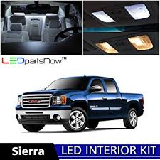 led lights for 2014 gmc sierra amazon com ledpartsnow 2007 2014 gmc sierra led interior lights
