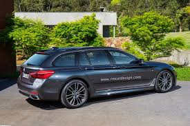 2017 bmw 5 series g31 touring rendering looks very accurate