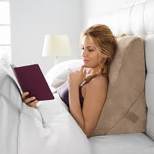 pillow for watching tv in bed bed wedge pillow brookstone