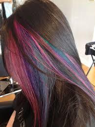 brown with red underneath hair rainbow hair 30 crazy rainbow hair color inspirations