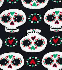 sugar skulls for sale snuggle flannel fabric 41 happy sugar skulls joann