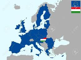 Hungary Map Europe by Illustration Of Europe Map With Flag Of Hungary From 1 July