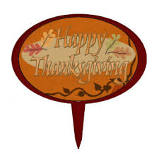 happy thanksgiving cake toppers zazzle