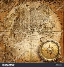 Vintage Map Old Compass On Vintage Map Stock Photo 59106952 Shutterstock
