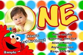 elmo 1st birthday invitations elmo 1st birthday invitations
