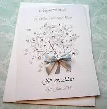 60th Anniversary Card Messages Diamond Silver 10th 25th 60th Wedding Anniversary Card Handmade