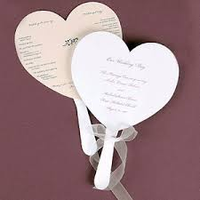 wedding fans favors heart shaped program fans 25 pcs wedding programs stationery